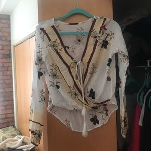 Floral SheIn blouse